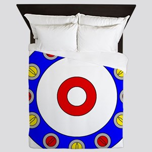 Curling Clock Queen Duvet